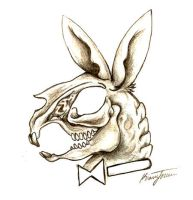 Playboy Bunny Skull by Wikidtron