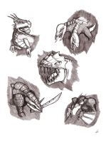 Sketches of the Creatures by Galvaridarts