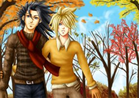 "+FF7 Yaoi+ ""Autumn Afternoon"" by GawainesAngel"