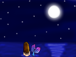 A Lonely Mermaid... by sweetietweety111