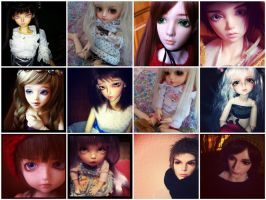 Some of my babies (BJD) by Anireda