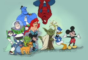 The New Disney Family by SamiShahin-Art