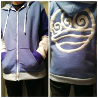 Water Element Hoodie - ATLA Fleece Cosplay Hoodie by Weeaboo-Warehouse