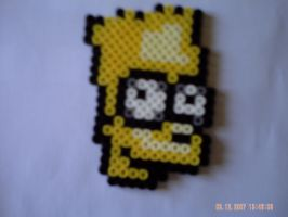 Portrait bart simpson by perles-hama