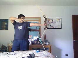 My first wooden bow by BombOPAUL