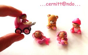 Little polymer clay ornaments by cernittando