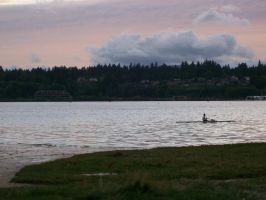 Sky and Kayak by cowgirlscholar