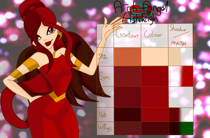 Arch Angel Ashleigh's palette by musasgal
