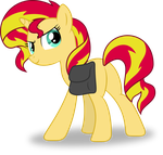 Sunset Shimmer sees you looking at her plot by Hourglass-Vectors