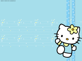 Hello Kitty Flower Wallpaper by HelloKittysFanClub