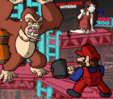 Donkey Kong by BrokenTeapot