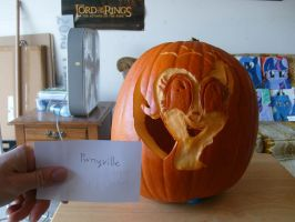 pinkie pumpkin carving contest entry 2012 by Pwnyville
