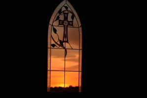 Sunset through the Church Window by howlinmadd123