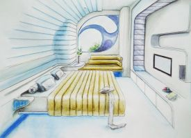 Futuristic Bedroom by shinvan