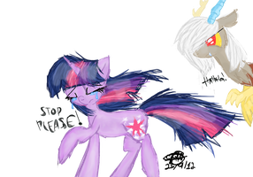 Eris and Twilight Sparkle by MissMagicalWolf