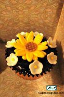 Sunflower Cupcake by SugiAi