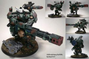 Xv88 broadside with Twin linked Heavy Rail Rifle by Elmo9141