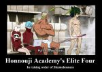 Honnouji Academy Elite Four by neogoki