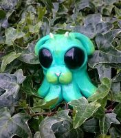 Slime Puppy hiding in the Ivy, for sale on Etsy  by MarcMacabre
