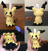 Pokemon Mimikyu Keychain Size! by GuardianEarthPlush