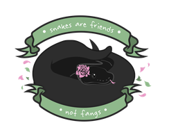 Snakes are friends, not fangs by Chewy-Num