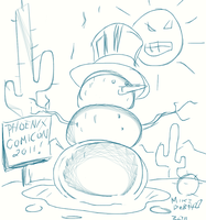Snowman Exclusive PHX Con 2011 by SquirrelShaver
