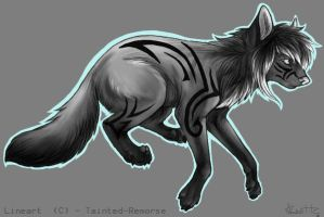 Tribal Wolf Adopt 5 AUCTION (CLOSED) by Vallume