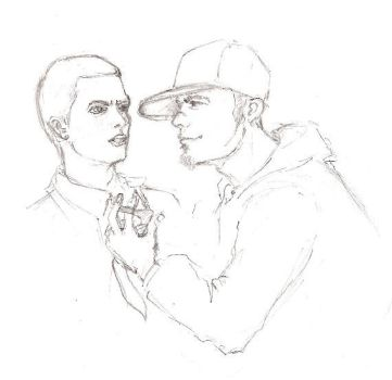 Eminem and Fred Durst sketch by Jargua