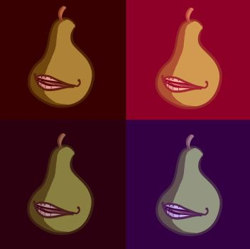 the biting pear of warhol..... by mibellure