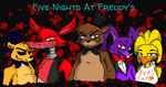 Five nights at freddy's (Golden Freddy added) by Ask-FNAF