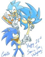.: Sketchbook (phone) : Happy 23rd Sonic :. by iluvcats111