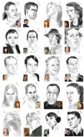 100 faces - 41-60 by StefanieOdendahl