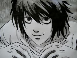 'L' Death Note by AdushS