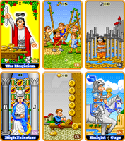 8-Bit Tarot, set 1 by indy1725