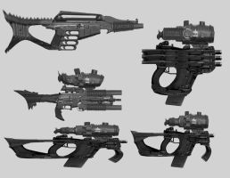 Sci Fi guns by DanNortonArt