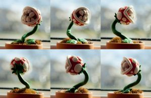 Potted Piranha Plant Roundabout by Whuzzit
