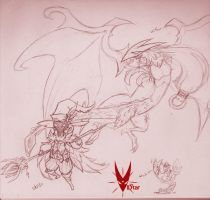 Viivii, Viifor, and a strange looking chocobo... by VIIStar