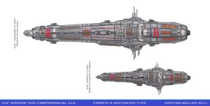ESF WARSHIP COMPARISON No. 01A by MisterK91