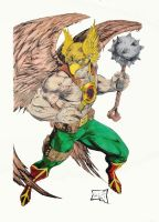 Hawkman Colored by SSGJoey