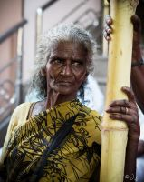 Old Indian Village Women Portrait by jay4everuk