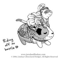 Riding off to battle by LCibos