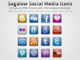 Sagalow Social Media Icon Pack by Schmal001