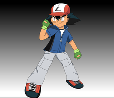 Ash Ketchum 6th Generation (Nate Style) by FinnAkira