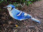 Blue Jay in Paper Mache by MeadowDelights