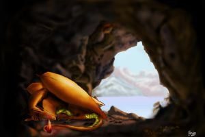 Charizard in a cave by NothingIs-True