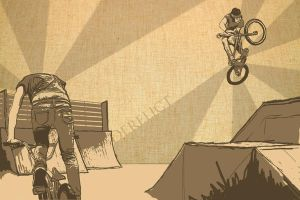 Bmx illustration 2 by Jontain