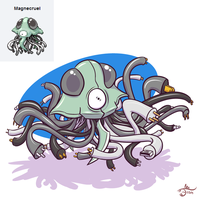 Pokemon Fusion - Magnecruel by cavemonster