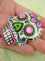 Colour - Painted Sugar Skull 2 by monsterkookies