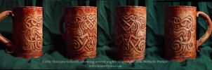 Celtic Unicorn Tankard by MPFitzpatrick