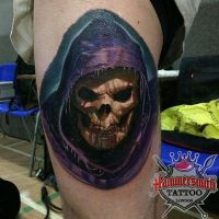 Paul Saliba Sureno Colour Tattoo Realism Skele by HammersmithTattoo